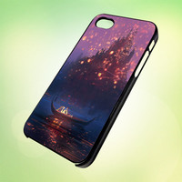 LHP005 Tangled Latterns design for iPhone 5 Black Plastic Case - leave message for White Case / iPhone 4 or iPhone 4S Case
