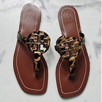 TORY BURCH[tb] New style square slippers-7