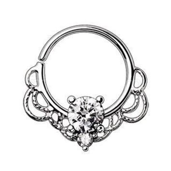 316L Stainless Steel Made for Royalty Ornate Seamless Ring