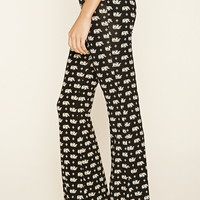Elephant Print Flared Pants
