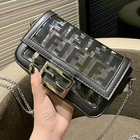FENDI Popular Women Jelly Shoulder Bag Transparent Crossbody Satchel
