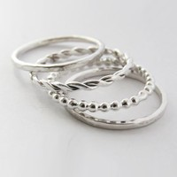 Set of 4 Mixed Stacking Rings by Sirrý Design