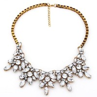 Shiny Gift Jewelry New Arrival Stylish Floral Gemstone Necklace [6586385991]