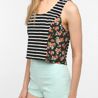 Urban Outfitters - Pins and Needles Mix Print Swing Crop Top