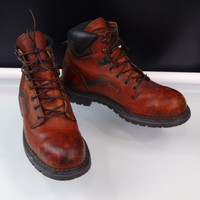 Red Wing 2226 6-inch Men Safety Boots Steel Toe Brown Leather Mens Sz 10.5