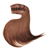 Convenient & Swift 100% unprocessed Brazilian virgin hair clip in hair extension remy human hair weave #16 18 20 free shipping