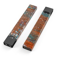 Abstract Cracked Burnt Paint - Premium Decal Protective Skin-Wrap Sticker compatible with the Juul Labs vaping device