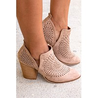 Priscilla Patterned Taupe Booties