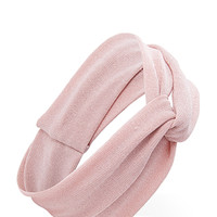 FOREVER 21 Knotted Glitter Headwrap Blush One