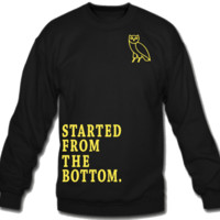 Started From the Bottom Owl Crew Neck Sweatshirt
