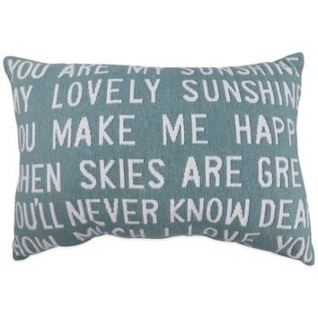 """The Vintage House by Park B. Smith® """"You Are My Sunshine"""" Tapestry Oblong Throw Pillow"""