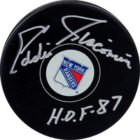 Steiner Sports Eddie Giacomin New York Rangers Autographed Hockey Puck (Black)