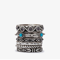 Faux Turquoise Ring Set