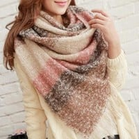 New  Thicken Mohair Female Scarf Warm Autumn Winter  Fashion Scarf For Women Casual Large Scarf Women  [8833665996]