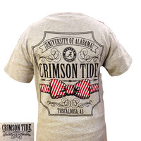 Alabama Crimson Tide Southern Class Bow Prep Girlie Bright T Shirt