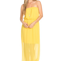 Yellow Tube Maxi Dress