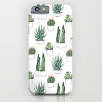 watercolour cacti and succulent iPhone & iPod Case by Vicky Webb