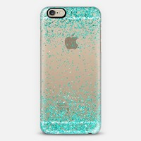Turquoise Sparkly Glitter Burst iPhone 6 case by Organic Saturation | Casetify