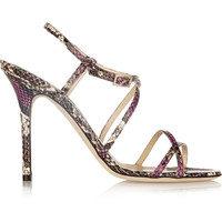 Jimmy Choo - Issey snake-effect leather sandals