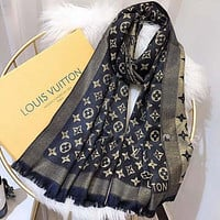 LV Louis Vuitton Women Wool Scarf Shawl Scarf
