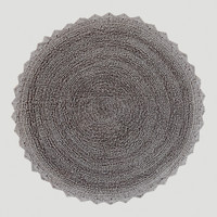 Frost Gray Round Bath Mat - World Market