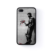 Lover Black Silicon Case Rubber Case for Apple iPhone 4 / 4s by Banksy