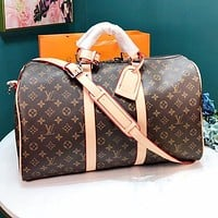 LV Louis Vuitton High Quality Women Men Leather Luggage Travel Bags Tote Handbag