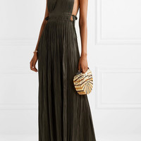 Ulla Johnson - Augustine plissé-satin maxi dress