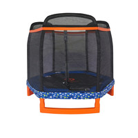 "72"" Hexagon Kids Indoor/Outdoor Trampoline & Safety Net Enclosure"
