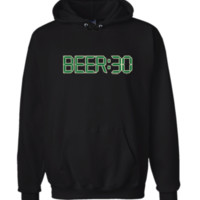 Beer: 30 Hoodie Sweatshirt Black - Men's / Women's