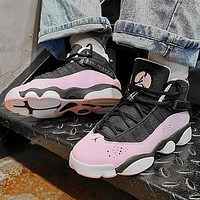 Air Jordan 6 Rings Trending Women Sport Basketball Shoes Sneakers Black&Pink