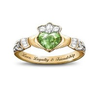 Love, Loyalty & Friendship Reflections Of Ireland Color-Changing Claddagh Ring by The Bradford Exchange