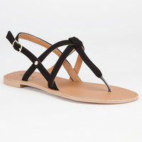 Qupid Athena Womens Sandals Black  In Sizes