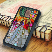 Star Flower Mosaic Glasses   For Samsung Galaxy S5 Cases   Free Shipping   AH1174