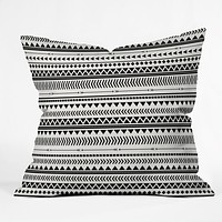 Allyson Johnson Black And White Aztec Pattern Throw Pillow