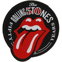 Rolling Stones Men's Fifty Years Embroidered Patch