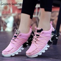 Golden Sapling Ladies Sneakers Women's Sport Shoes Breathable Fabric Rubber Sneakers Women Air Mesh Trainers Women Tennis Shoes