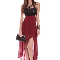 Burgundy Black Sequins High Low Hem Cutout Sides Sexy Party Dress @ Amiclubwear sexy dresses,sexy dress,prom dress,summer dress,spring dress,prom gowns,teens dresses,sexy party wear,women's cocktail dresses,ball dresses,sun dresses,trendy dresses,sweater