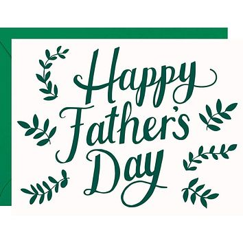 Father's Day Greenery Card