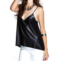 Faux Leather Camisole