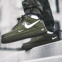NIKE AIR FORCE 1 07 LOW Fashionable Women Men Casual Running Sports Shoes Sneakers Army Green