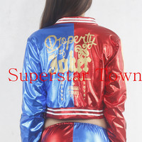 Suicide Squad Harley Quinn Cosplay Costumes Woman Coats femme Jacket chamarras de batman para mujer