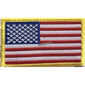 Embroidered Iron-On American Flag Patch