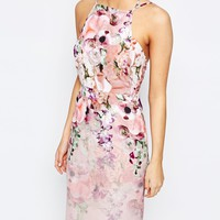 Hope and Ivy Floral Square Neck Maxi Dress