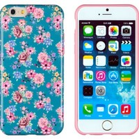 """iPhone 6 Case, DandyCase PERFECT PATTERN *No Chip/No Peel* Flexible Slim Case Cover for Apple iPhone 6 (4.7"""" screen) - LIFETIME WARRANTY [Vintage Teal Floral]"""