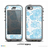 The White and Blue Raining Yarn Clouds Skin for the iPhone 5c nüüd LifeProof Case