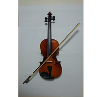 Student Acoustic Violin Full 4/4 Maple Spruce with Case Bow Rosin Yellow Color