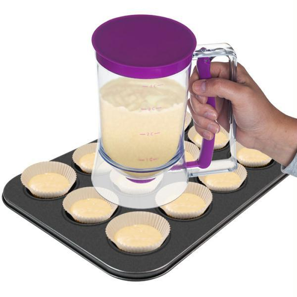 Image of Chef Buddy Pan Cup Cake Batter Dispenser - 4 Cup Capacity