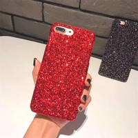 Luxury Phone Case For iPhone 7,Shiny Bling Glitter Case Cover For iPhone X 8 5S 6 6s Plus XS MAX XR Handmade DIY Diamond Case