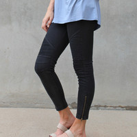 Chicago Moto Legging (Black)